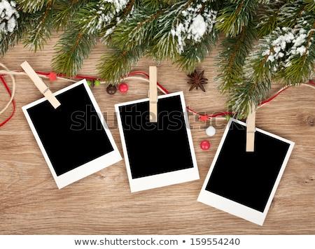Navidad foto marcos tres fotos tarjetas Foto stock © marimorena