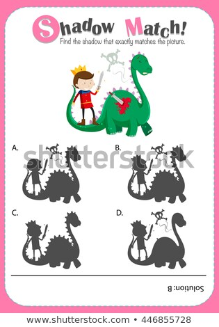 game template with matching dragon and prince stock photo © bluering