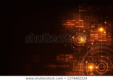 Composite image of global technology background in orange Stock photo © wavebreak_media