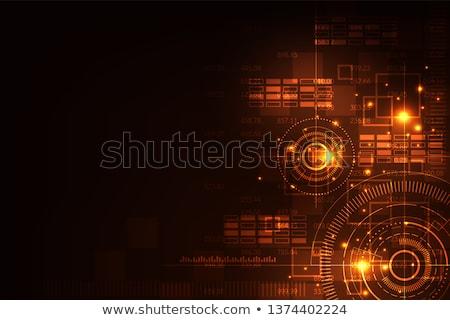 composite image of global technology background in orange stock photo © wavebreak_media