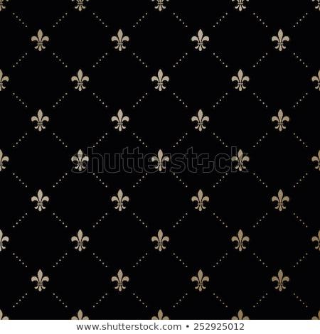 Background with gold Fleur de Lis Stock photo © blackmoon979