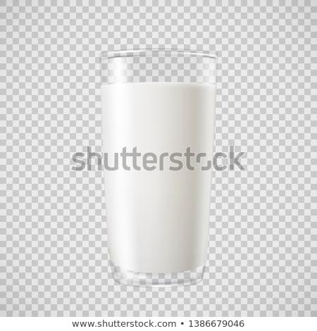 Csésze tej fekete felső kilátás izolált Stock fotó © Leftleg