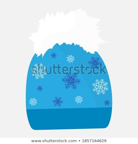 Snowboard clipart afbeelding eps kunst vrouw Stockfoto © vectorworks51