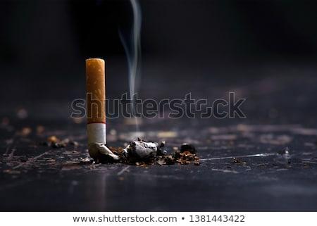 タバコ 手 たばこ 紙 孤立した 死 ストックフォト © peterguess