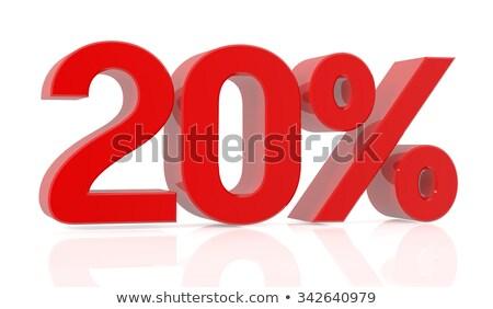 Rood twintig vijf procent teken geïsoleerd Stockfoto © Oakozhan