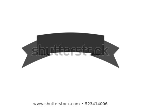 Ribbon isolated template black. Decorative tape for heraldry. Re Stock photo © popaukropa