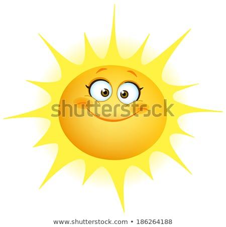 Живопись · счастливым · солнце · Top · мнение · счастливая · девушка - Сток-фото © iko