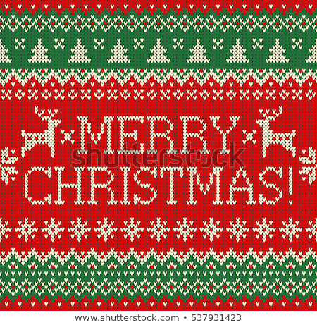 Merry Christmas knitted seamless background, vector illustration Stock photo © carodi