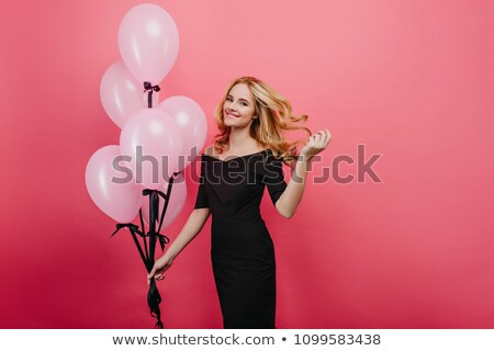 Foto stock: Belo · elegante · mulher · loira · moda · longo · vestir