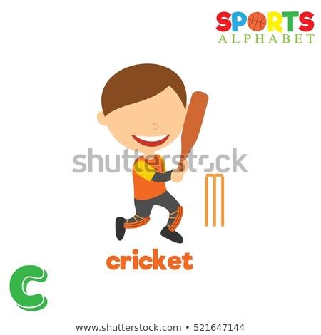 Letra c críquete ilustração crianças criança fundo Foto stock © bluering