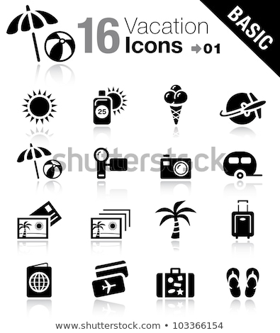 caravan · icon · zon · ontwerp · 10 · huis - stockfoto © sdCrea
