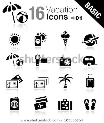 Karavan ikon güneş dizayn 10 ev Stok fotoğraf © sdCrea
