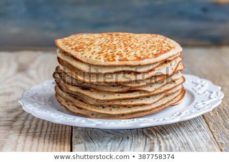 スタック パンケーキ 小麦粉 プレート 食品 ストックフォト © janssenkruseproducti