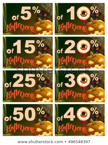 Ingesteld 50 procent korting halloween verkoop Stockfoto © orensila
