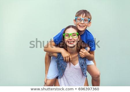 студию · портрет · братья · сестра · любви · счастливым - Сток-фото © monkey_business