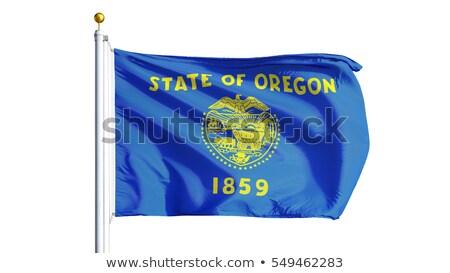 usa state oregon flag on white background stock photo © tussik