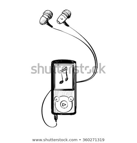mp3プレーヤー · スケッチ · アイコン · ウェブ · 携帯 · インフォグラフィック - ストックフォト © rastudio