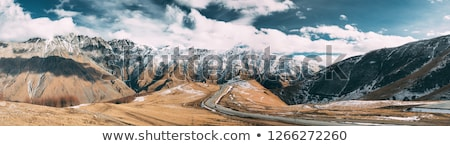 Georgian mountains in the winter Stock photo © joyr