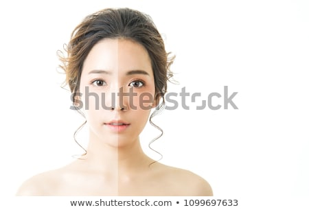 Atraente asiático modelo brilhante make-up queimadura de sol Foto stock © deandrobot