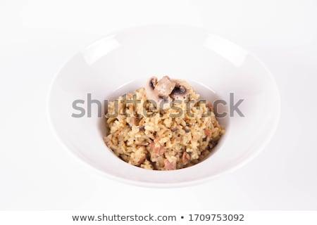 Сток-фото: свежие · кнопки · грибы · кулинарный · травы · продовольствие