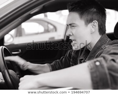 Angry Asian driver  Stock photo © szefei