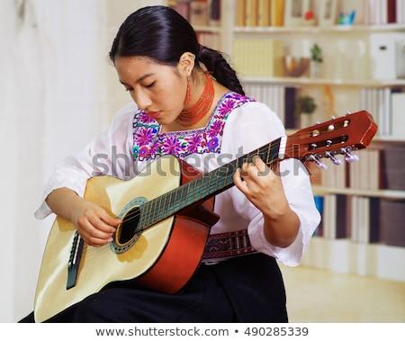 Stock photo: Pretty Female Peruvian Teen