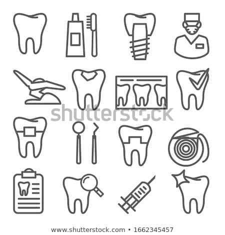 tandheelkundige · stoel · lijn · icon · vector · geïsoleerd - stockfoto © RAStudio