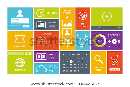 login form design in flat trending style Stock photo © SArts
