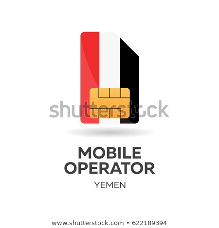Yemen mobile operator. SIM card with flag. Vector illustration. Stock photo © Leo_Edition