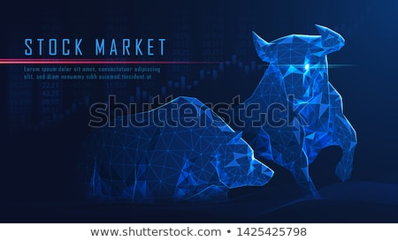 stock market concept design with bull and bear for profit and lo stock photo © sarts