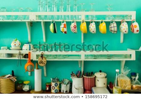 Gospodarstwo domowe obiektów vintage ilustracja telefon Zdjęcia stock © bluering