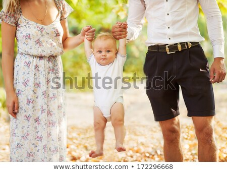 moeder · pasgeboren · zoon · najaar · park · poseren - stockfoto © tekso