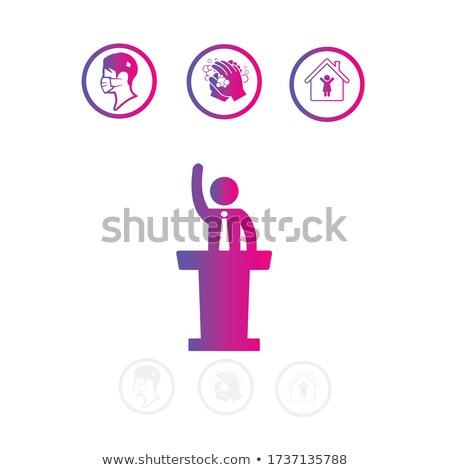 hangszóró · beszél · közönség · üzlet · képzés · konferencia - stock fotó © snowing