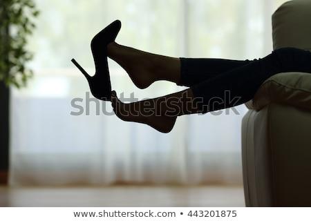 расслабиться работу портрет молодые служащий листьев Сток-фото © filipw