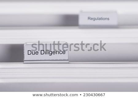due diligence concept on file label stock photo © tashatuvango