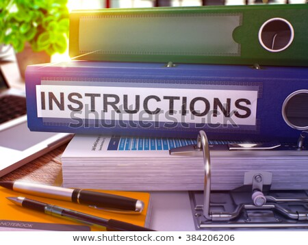 Operating Instructions on Office Folder. Toned Image. 3D. Stock photo © tashatuvango