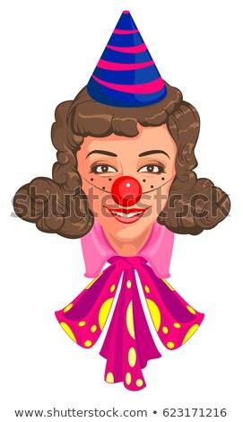 Head Woman mom in clown attire Stock photo © orensila