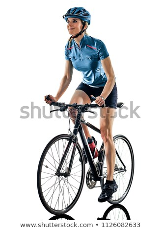 Portrait of female cyclist Stock photo © IS2