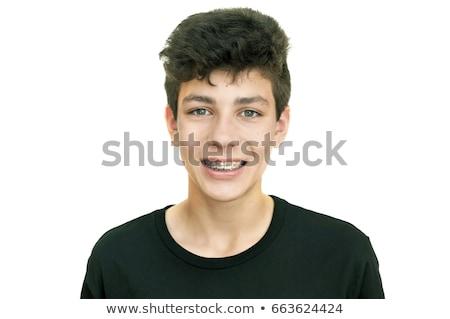 Portrait boy with brace Stock photo © IS2