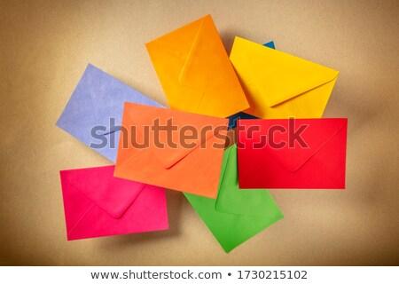Stock fotó: Különböző · színes · asztal · terv · szépség · posta