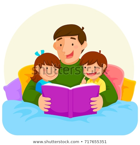 Father and son reading book in bedroom Stock photo © wavebreak_media