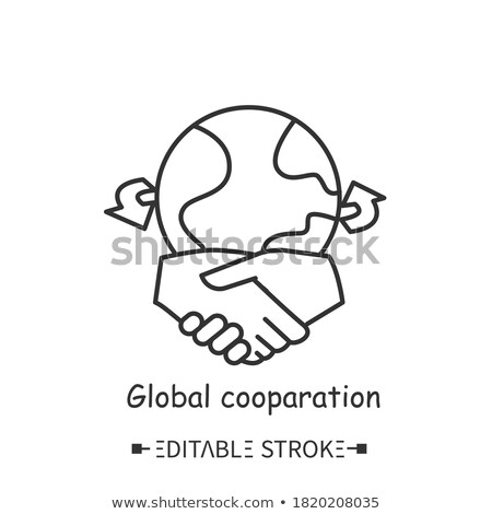 Transnational Relations - Business Concept. Stock photo © tashatuvango