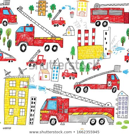 Fire truck sketch icon. Stock photo © RAStudio