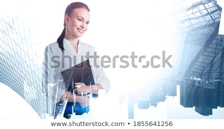 Executives on Folder. Toned Image. Stock photo © tashatuvango