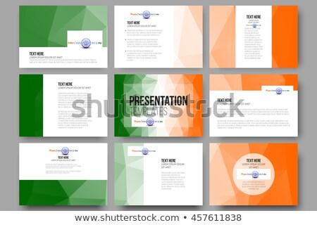 Dag Indië ingesteld sjablonen brochures folders Stockfoto © lucia_fox