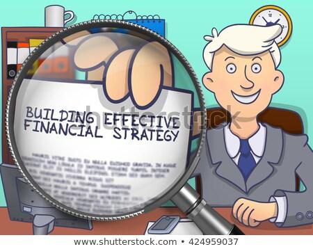 Budynku skuteczny finansowych strategii obiektyw człowiek Zdjęcia stock © tashatuvango