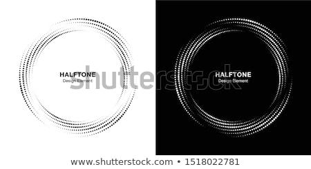Establecer medios tonos círculo marcos vector diseno Foto stock © almagami