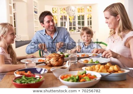 家族 健康食 子 リンゴ 母親 楽しい ストックフォト © IS2