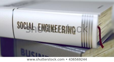 Social engenharia livro título coluna Foto stock © tashatuvango