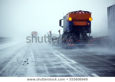 truck on ice road in snow-storm  Stock photo © ssuaphoto